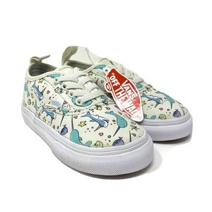 NEW! Vans Narwhal Shark Fish Elastic Lace Sneakers